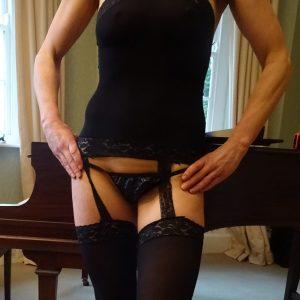 Hot Sexy Black Suspender Bodystocking