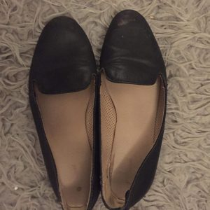 Well worn smelly cabin crew shoes